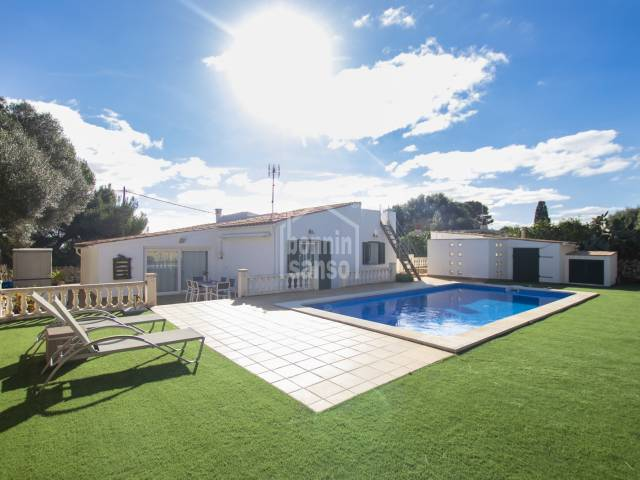 Pretty villa with swimming pool in Salgar, Menorca
