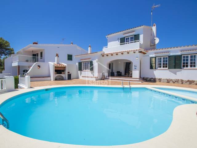 Spacious villa with sea views in Cala Galdana, Ferrerias, Menorca.