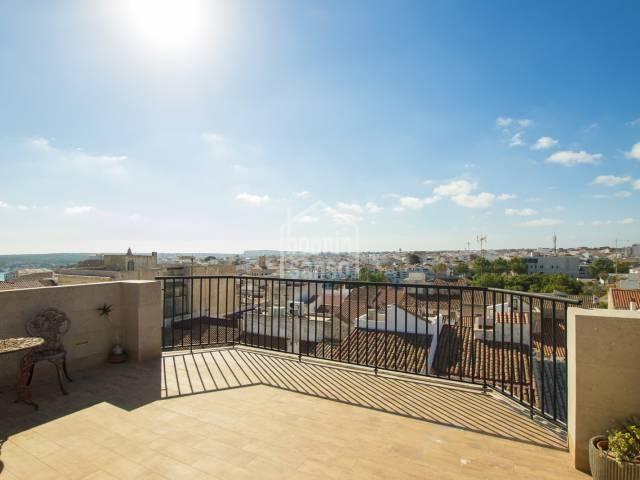 Atico con vistas hasta al Mar en Mahon, Menorca.