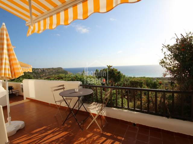 South facing apartment with panoramic views over the beach of Son Bou, Menorca