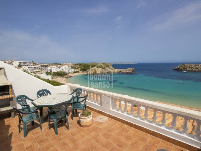 Front line apartment with panoramic views over the bay of Arenal, Menorca