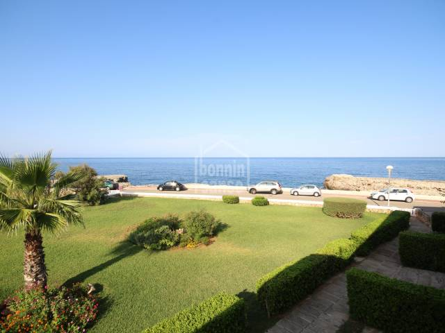 Beautiful front line apartment in Cala Blanca, Ciutadella, Menorca