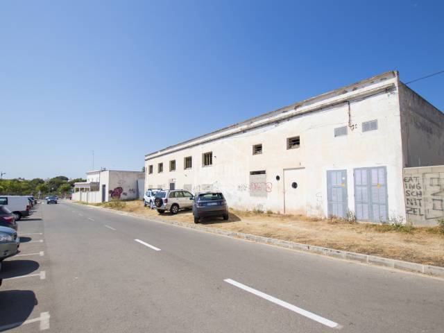 Interesting and large industrial building in Ciutadella