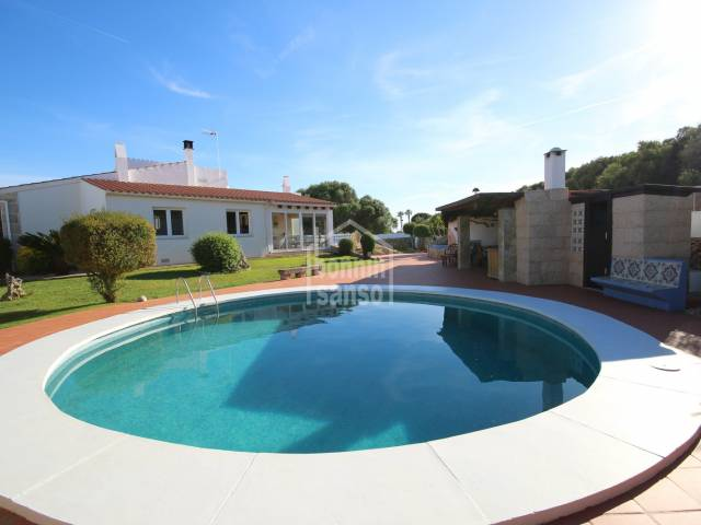 Elegant villa in Sa Caleta with private swimming pool, Menorca