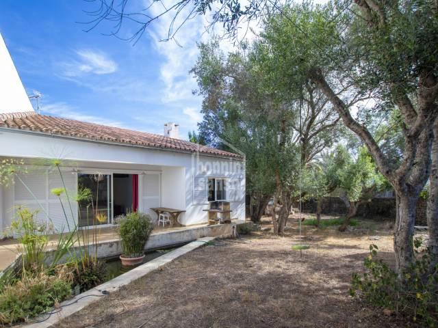 Contemporary Villa with garden in Llumesanes, Menorca