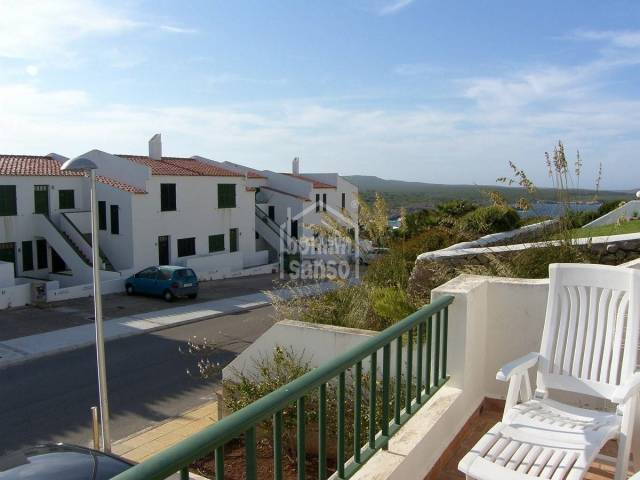 Attractive apartment with communal swimming pool  and close to the sandy beach of Son Parc, Menorca.