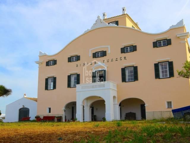Esplendida casa señorial con vistas al mar, Sant Lluis. Menorca