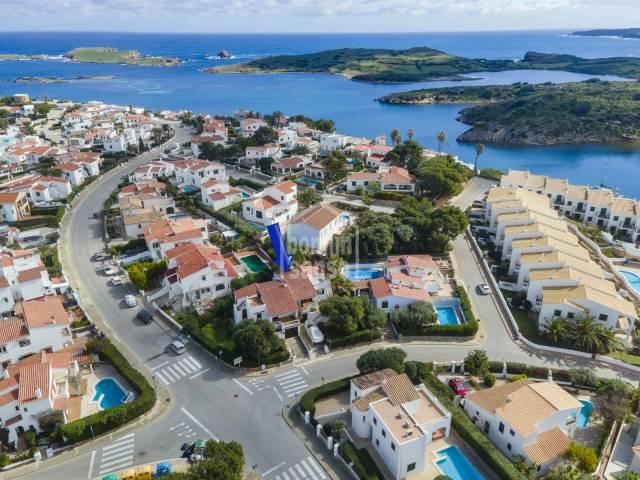 Semi-detached villa with a spacious garden in Addaya, Menorca