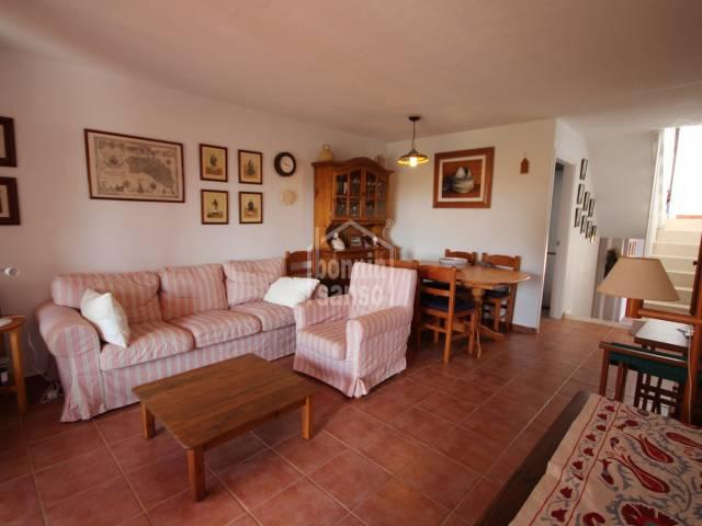 Terraced villa with sea views in Calan Blanes, Ciutadella, Menorca