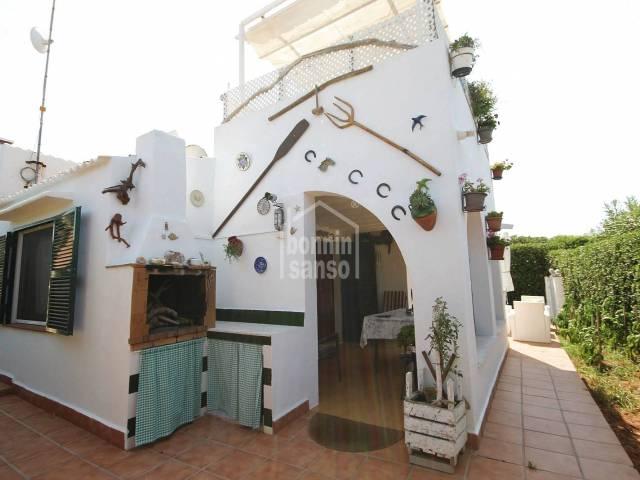Totally refurbished villa with communal pool in Cap d'Artrutx, Ciutadella, Menorca