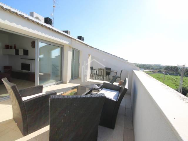 Modern and beautiful penthouse on two floors with large terrace with panoramic views of the countryside in Ciutadella