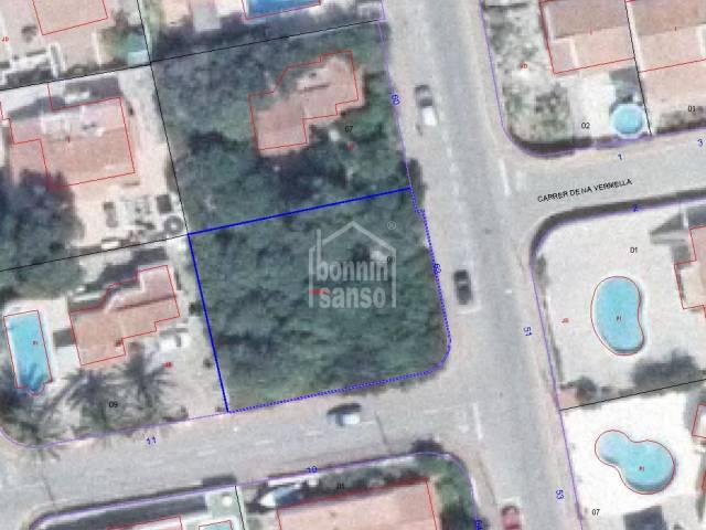 Plot of land of 470m² in Calan Porter, Menorca