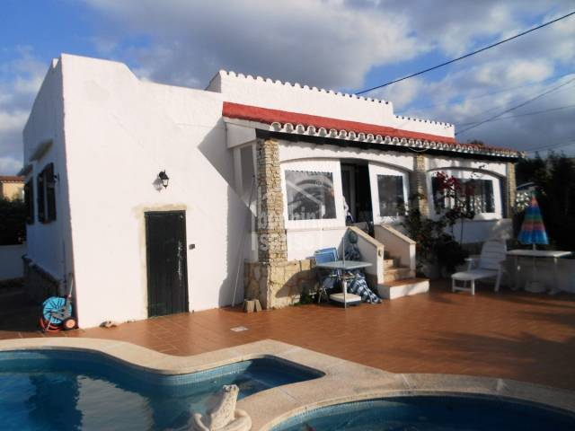 Well situated villa with a pool in Calan Porter