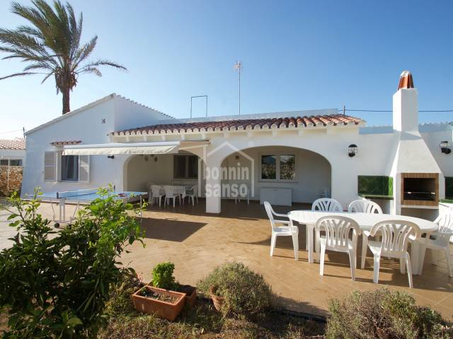 Pretty villa with ample garden area in Trebaluger,Es Castell,Menorca