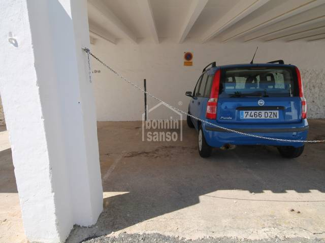 Parking space in Binibeca Vella, San Luis, Menorca