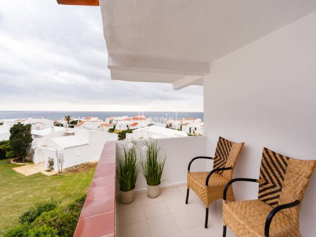 EXCLUSIVE. Refurbished apartment with sea views on the south coast of Menorca, Binibeca.