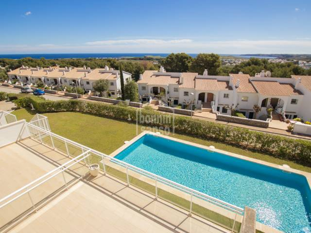 A modern and most exclusive property set on the north coast in Coves Noves , Menorca.
