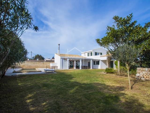 Modern  house in a rural village setting,  Llumesanes, Menorca