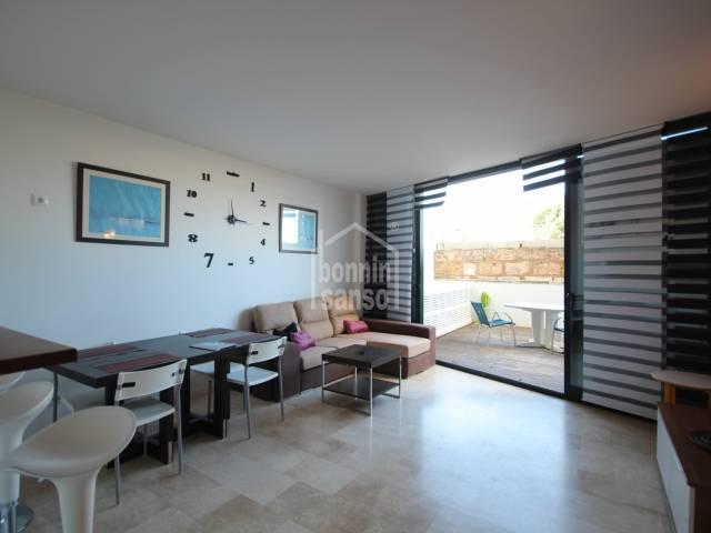 Ideal planta baja con piscina comunitaria, Ciutadella, Menorca