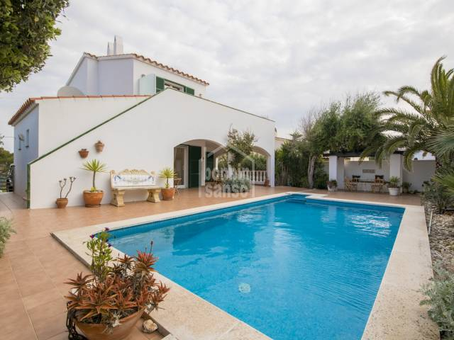 Immacualate home with Sea Views in Addaya on the north coast in Menorca.