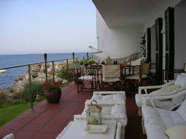 Front line villa with amazing sea views in Cap den Font, Menorca