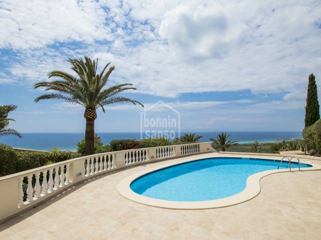 South facing villa with spectacular and guaranteed views, privacy and tranquility. Son Bou. Menorca