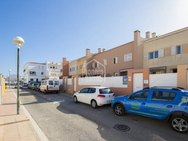 Terraced house with patio in Mahon, Menorca