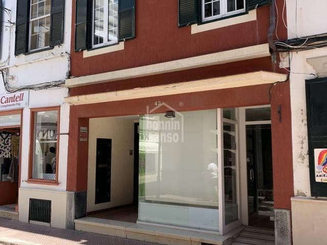 Well located business premises in Mahon, Menorca