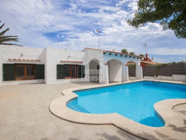 Villa with pool in Punta Prima, Menorca