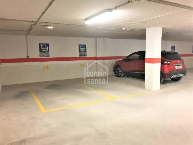 Parking space close to the historic harbour of Ciudadela, Menorca