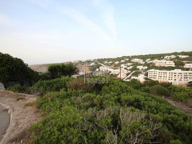 Solar en Cala Morell, Ciutadella, Menorca.