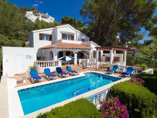 Chalet con impresionantes vistas al mar en Sou Bou, Menorca