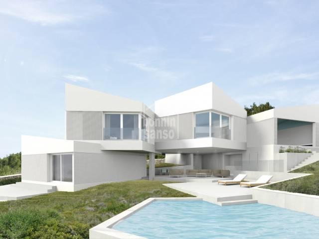 Villa contemporanea en construccion Coves Noves de Menorca