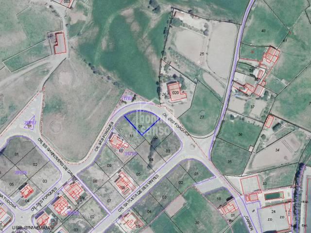En Mercadal, Menorca,  interesante parcela edificable en zona de expansión