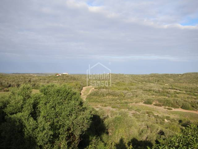 Panoramic views over the country side in the national park of Shangri la, Menorca.