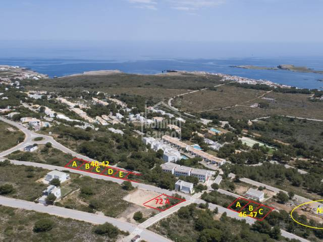 Building plot with sea views Coves Noves Menorca