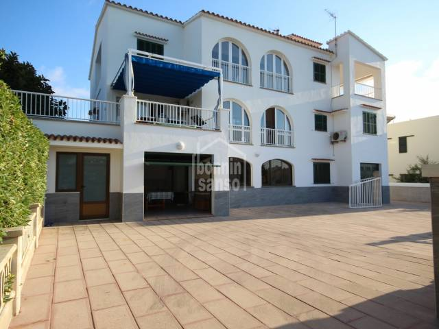 Ground floor apartment, first line of sea. Son Oleo, Ciutadella, Menorca