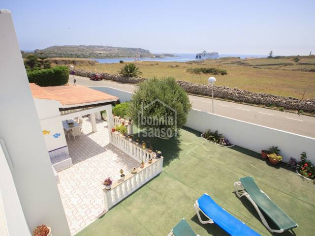 Attractive villa overlooking the entrance to Mahon harbour, close to Es Castell , Menorca