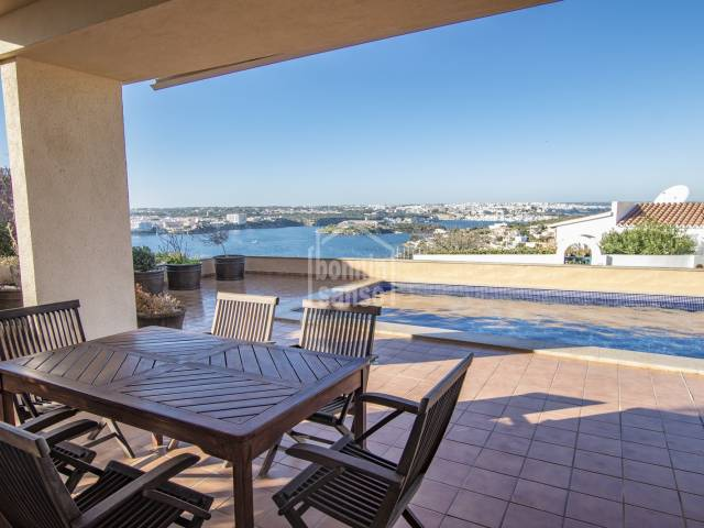 Exceptional harbour views from this villa in Cala Llonga,Menorca