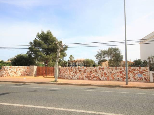 Solar en zona residencial consolidada en Ciutadella de Menorca