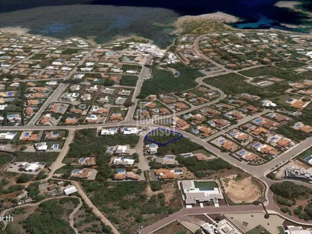 Building plot in Binibeca, south coast of Menorca