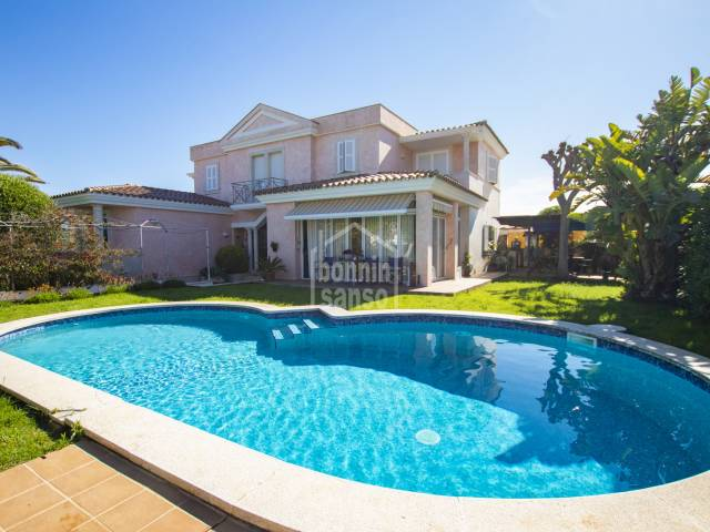 Impressive villa with swimming pool in Malbuger, Mahon, Menorca
