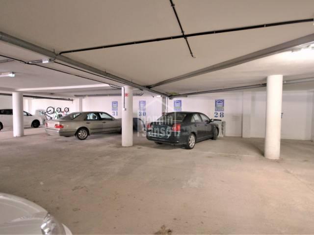 Parking in the area of Camí de Maó, Ciutadella, Menorca
