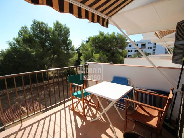 Apartment with terrace close to the beach of Cala Blanca, Ciutadella, Menorca.