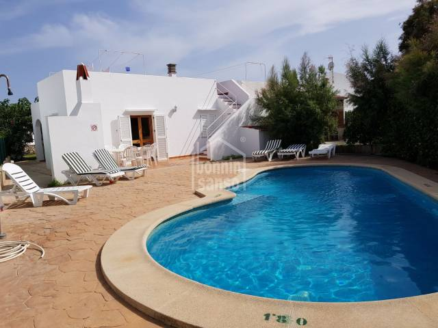 Beautiful holidays rent villa with garden and private pool in Cap d'Artrutx Menorca
