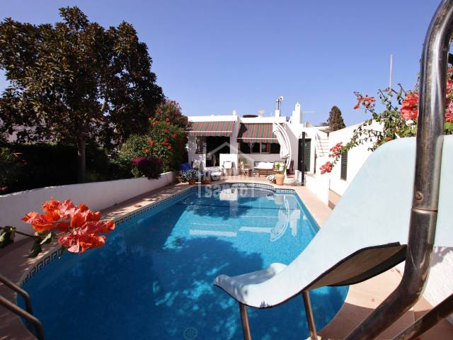 South facing villa with sea views and tourist licence. Binibeca Menorca.